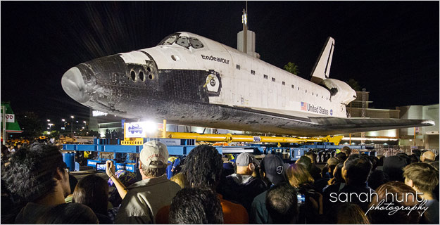Space Shuttle Endeavour at MLK & Crenshaw in L.A. - 1/13/2012