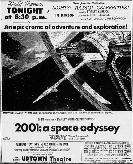 2001: A Space Odyssey premiere ad