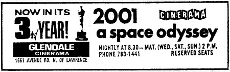 2001: A Space Odyssey theater ad