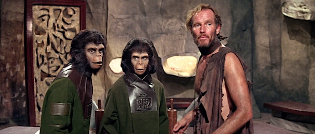 A scene from Planet of the Apes (1968).