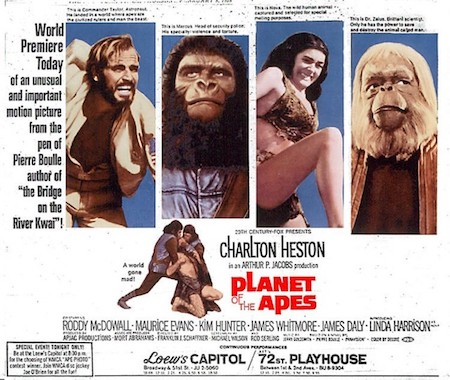Planet of the Apes promotional art