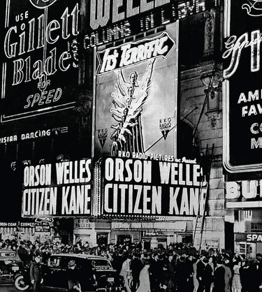 The premiere of Citizen Kane in 1941