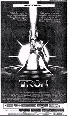 Tron newspaper ad