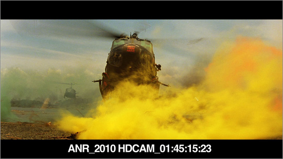 Screen shot of the 2010 Blu-ray master of Apocalypse Now Redux