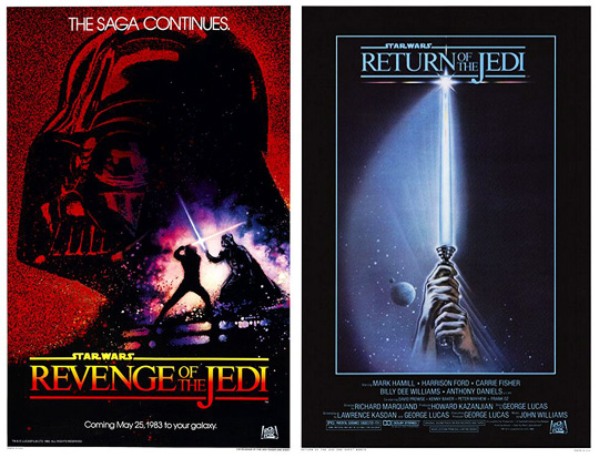 A pair of one sheets for Return of the Jedi
